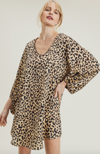 Load image into Gallery viewer, Wild One Leopard Satin Dress - Olive Vines Boutique