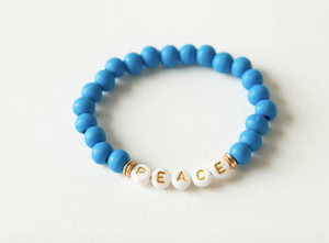 Peace Beaded Bracelet - Olive Vines Boutique