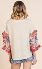 Load image into Gallery viewer, Southern Bliss Ruffle Top - Olive Vines Boutique