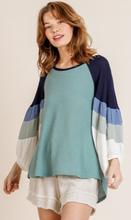 Load image into Gallery viewer, Unstoppable Colorblock Top - Olive Vines Boutique