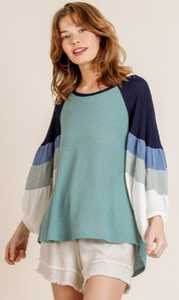 Unstoppable Colorblock Top - Olive Vines Boutique