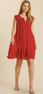 Marvelous Red Lace Sleeveless Dress - Olive Vines Boutique