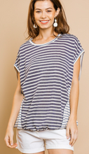 Load image into Gallery viewer, Jules Striped Short Sleeve Top - Olive Vines Boutique