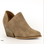 PERFORATED ANKLE BOOTIES - Olive Vines Boutique