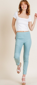 High Waist Skinny Moto Pant - Olive Vines Boutique