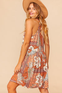 Dreamer Halter Dress - Olive Vines Boutique