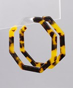 Octagon Acrylic Open Hoops - Olive Vines Boutique