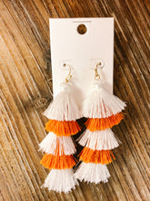 Load image into Gallery viewer, Game Day 5 Layer Tassel Earrings