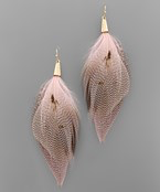 Load image into Gallery viewer, Feather Tassel Earrings - Olive Vines Boutique