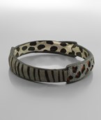 Multi Animal Print Bangle Bracelet - Olive Vines Boutique