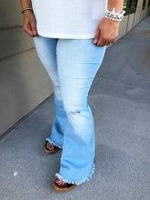 Load image into Gallery viewer, High Rise Super Flare Jeans - Olive Vines Boutique