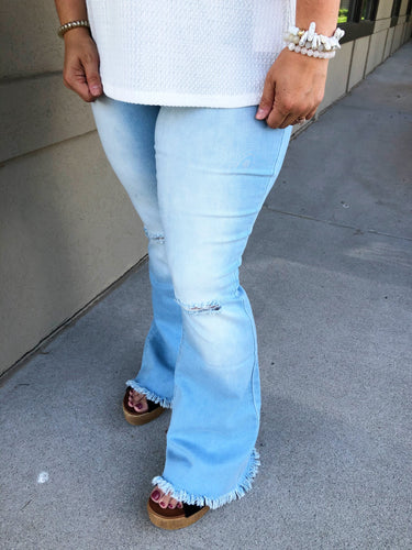 High Rise Super Flare Jeans - Olive Vines Boutique
