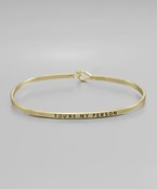 You're My Person Bangle - Olive Vines Boutique