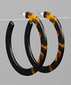 Acrylic Open Hoops - Olive Vines Boutique