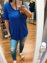 Load image into Gallery viewer, Carlee Casual V Neck Top - Olive Vines Boutique