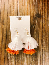 Load image into Gallery viewer, Game Day Tassel Earrings - Olive Vines Boutique