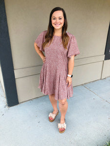 Katie Flutter Dress - Olive Vines Boutique