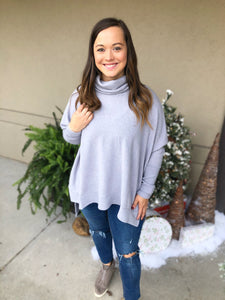 Brunch Date Poncho Sweater - Olive Vines Boutique