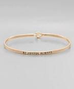 Be Joyful Always Bangle - Olive Vines Boutique