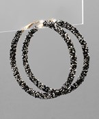 Load image into Gallery viewer, Crystal Cluster Hoops - Olive Vines Boutique