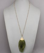 Fan Tassel Necklace - Olive Vines Boutique
