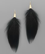 Feather Tassel Earrings - Olive Vines Boutique
