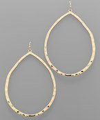 Hammered Teardrop Earrings - Olive Vines Boutique