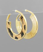 Load image into Gallery viewer, Animal Cowhide Hoops - Olive Vines Boutique