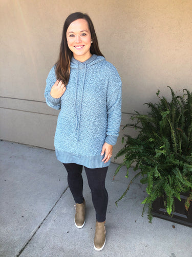 Skies are Blue Popcorn Sweater - Olive Vines Boutique