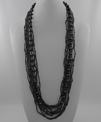 Multi Row Bead Necklace - Olive Vines Boutique