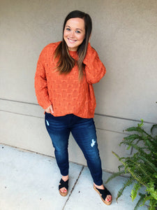 Watching Sunsets Pullover Sweater - Olive Vines Boutique