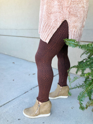 Snake Skin Leggings - Olive Vines Boutique