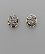 Druzy Studs - Olive Vines Boutique