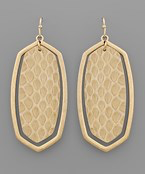 Load image into Gallery viewer, Snake Hexagon Earrings - Olive Vines Boutique