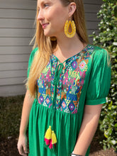 Load image into Gallery viewer, Grass is Greener Babydoll Dress - Olive Vines Boutique