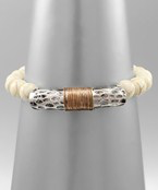 Load image into Gallery viewer, Wire & Stone Bracelet - Olive Vines Boutique