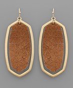 Snake Hexagon Earrings - Olive Vines Boutique