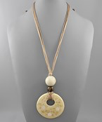 Sealife Disc & Circle Necklace - Olive Vines Boutique