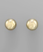 Large Ball Studs - Olive Vines Boutique