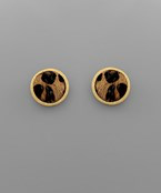 Load image into Gallery viewer, Cowhide Disc Studs - Olive Vines Boutique