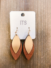 Load image into Gallery viewer, Wood Marquise Earrings - Olive Vines Boutique