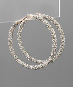 Crystal Cluster Hoops - Olive Vines Boutique