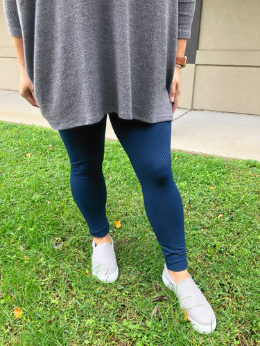 Striped Leggings - Olive Vines Boutique