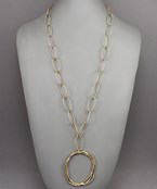 Multi Circle Oval Link Necklace - Olive Vines Boutique
