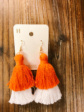 Load image into Gallery viewer, Game Day Layered Tassel Earrings - Olive Vines Boutique