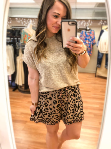 Free & Easy Elastic Waist Shorts - Olive Vines Boutique
