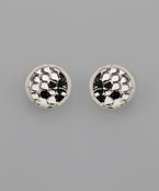 Animal Print Disc Studs - Olive Vines Boutique