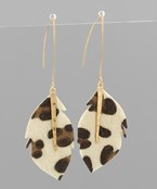 Load image into Gallery viewer, Snake Leather Feather Earrings - Olive Vines Boutique