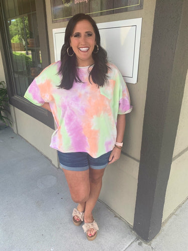 Lilac Tie Dye Top - Olive Vines Boutique