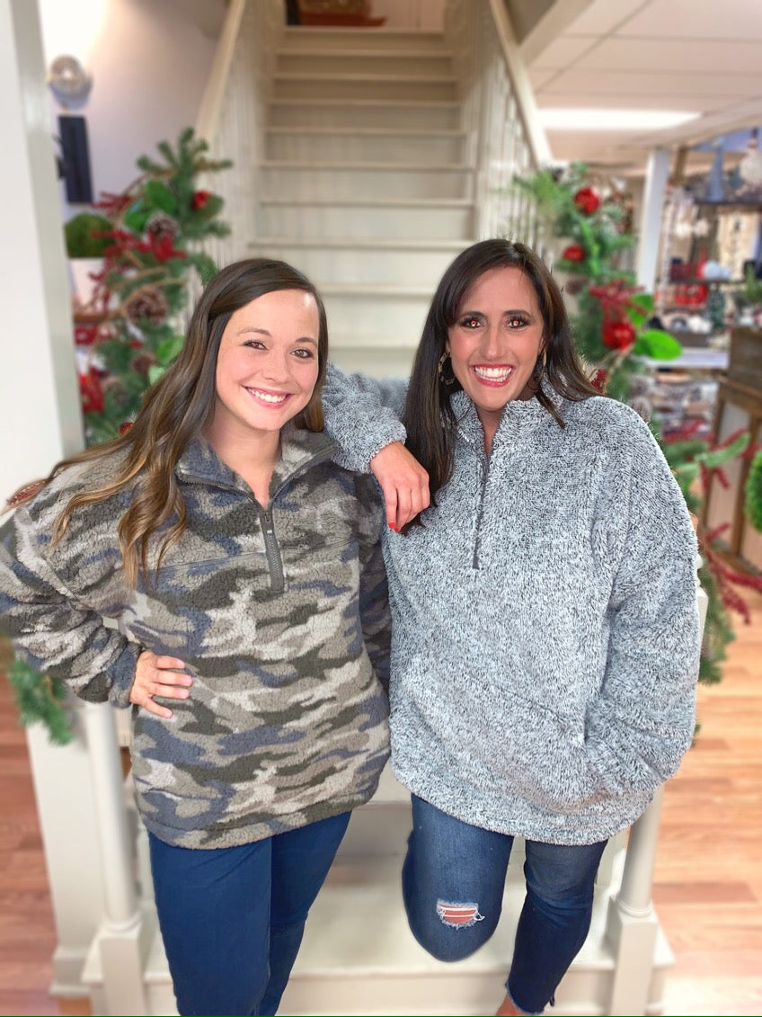 Southern Girl Camo Sherpa - Olive Vines Boutique